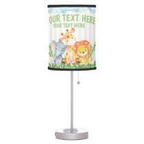 Safari Jungle Zoo Animal Bedroom Lamp