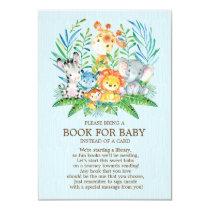 Safari JungleBoysBaby Shower Book for Baby Card