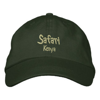 Safari Kenya - Pine Embroidered Baseball Hat