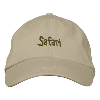 Safari Khaki Embroidered Baseball Cap