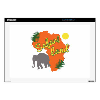 "Safari Land 17"" Laptop Skin"