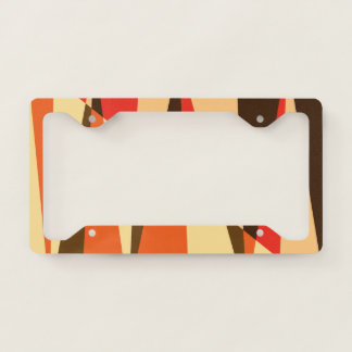 Safari License Plate Frame with tropical colors