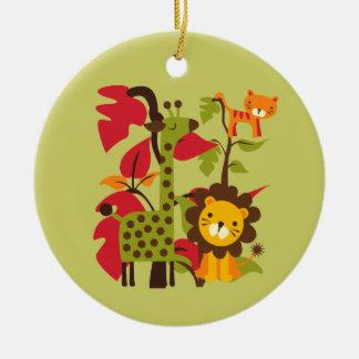 Safari Life Double-Sided Ceramic Round Christmas Ornament