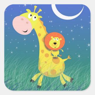 Safari Lion and Giraffe Stickers