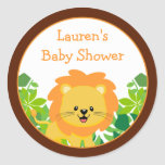 Safari Lion Baby Shower Favor Stickers
