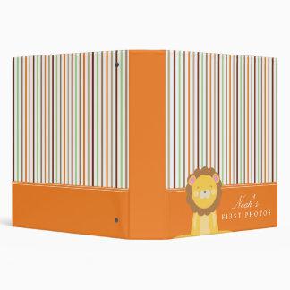 Safari Lion Striped Photo Album Vinyl Binder