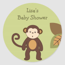 Safari Monkey Jungle Envelope Seals Stickers