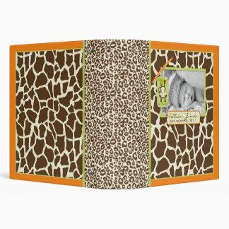 Safari Monkey & Pacifier Animal Print Memory Book Vinyl Binders