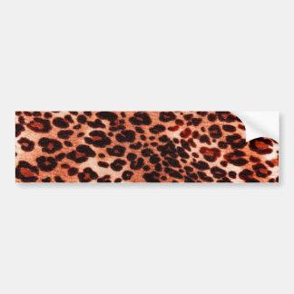 safari orange Art Bumper Sticker