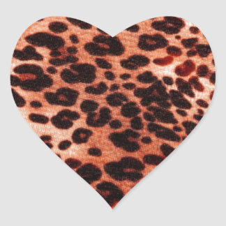 safari orange Art Heart Sticker