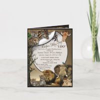 Safari Outdoor Wedding Shower Invitation
