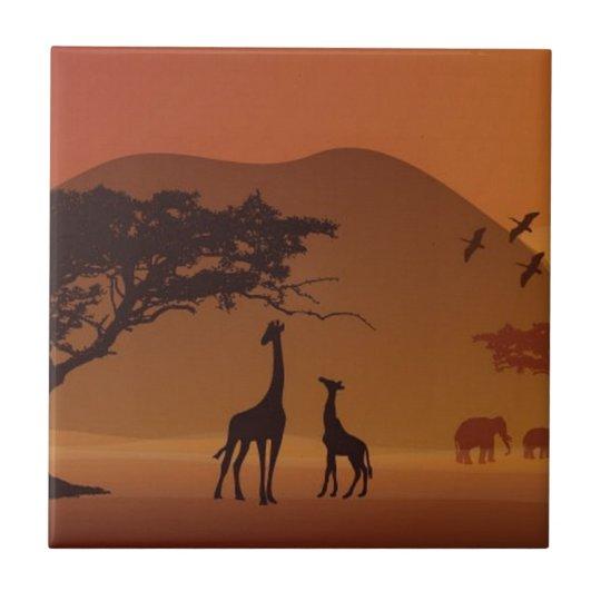 Safari park ceramic tile
