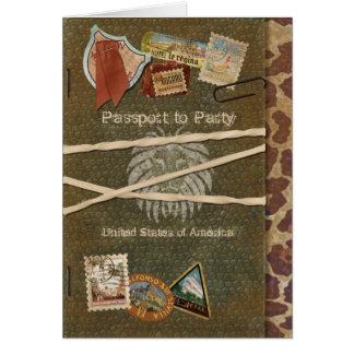 Safari Passport Invitation
