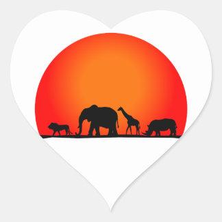 Safari Pegatina En Forma De Corazón
