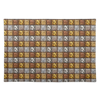 Safari Print Tiles Cloth Placemat
