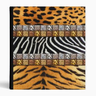 Safari Prints Vinyl Binder