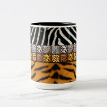 Safari Prints Two-Tone Coffee Mug