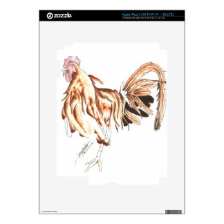 Safari Rooster Lion Decals For iPad 3