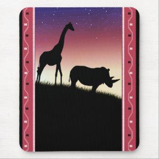 Safari Silhouette - African Art - Mouse Pad
