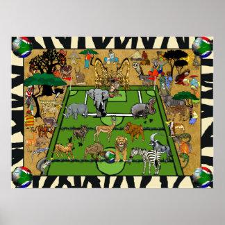 Safari South Africa Soccer Football Sports Fan Poster