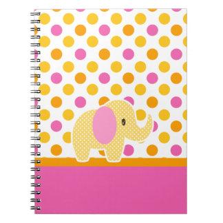 Safari Sweetness Elephant Spiral Notebook