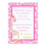 Safari Sweetness Giraffe Baby Shower Invitation
