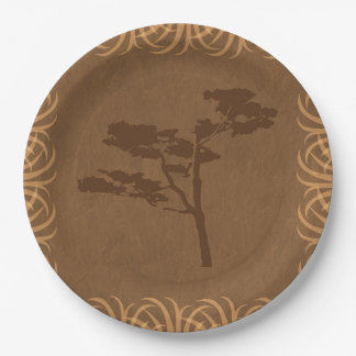 Safari Theme Acacia with Tall Grass Border Paper Plate