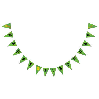 Safari theme birthday bunting flags