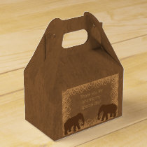 Safari Theme Elephant Party Favor Box