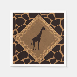 Safari Theme Giraffe Napkin