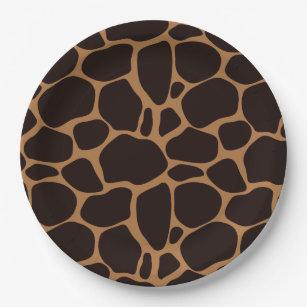 Safari Theme Giraffe Print Paper Plate  sc 1 st  Zazzle & African Print Plates | Zazzle