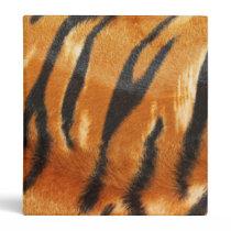 Safari Tiger Stripes Print 3 Ring Binder