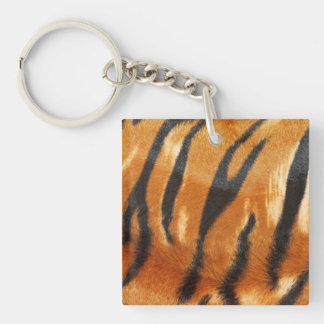 Safari Tiger Stripes Print Keychain