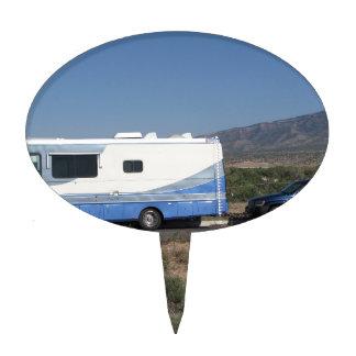 Safari Trek 1999 Blue Classic RV Motorhome Cake Topper