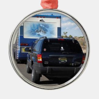 Safari Trek 1999 Blue Classic RV Motorhome Jeep Metal Ornament