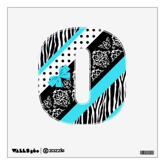 Safari: Turquoise/Bow: 0 Wall Sticker