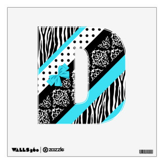 Safari: Turquoise/Bow: D Wall Decal