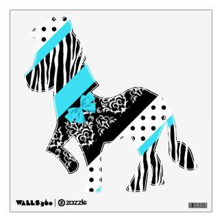 Safari: Turquoise/Bow Zebra Wall Sticker