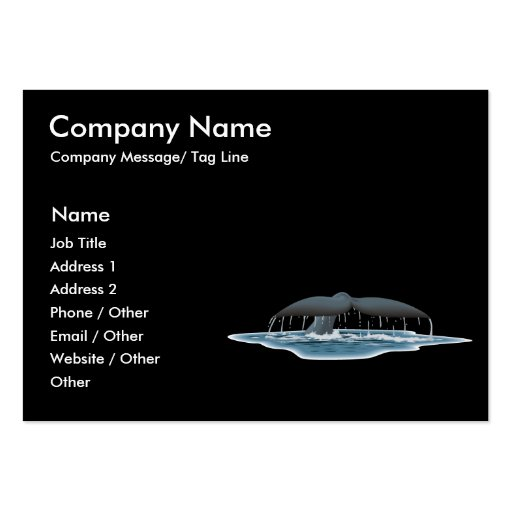 Safari whale tail Template Chubby Business Card