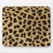 safari wild animal leopard print mouse pad