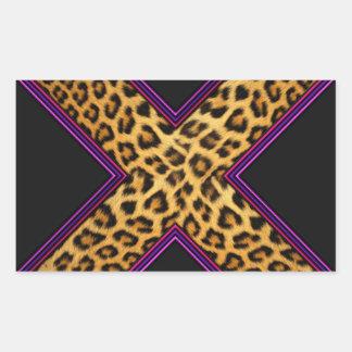 Safari X Pegatina Rectangular