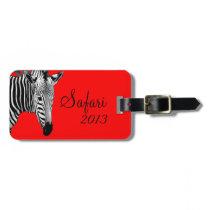 Safari Zebra Bag Tag