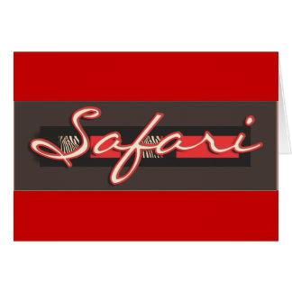 Safari zebra greeting cards - customize