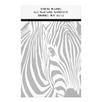 Safari Zebra Personal Stationery