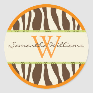 Safari Zebra Print Sticker
