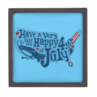 Safe And Happy 4th Of July Jewelry Box