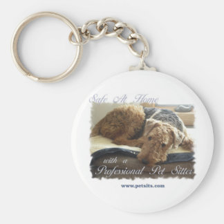 Safe At Home with a Professional Pet Sitter Basic Round Button Keychain