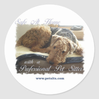 Safe At Home with a Professional Pet Sitter Classic Round Sticker