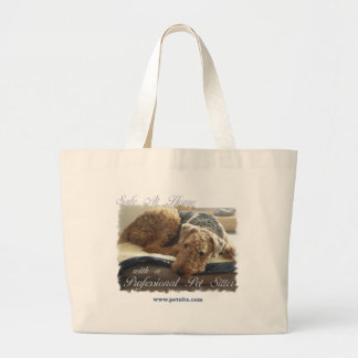 Safe At Home with a Professional Pet Sitter Large Tote Bag