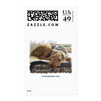 Safe At Home with a Professional Pet Sitter Stamps